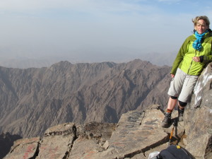 Hiking highest peak in Northern Africa